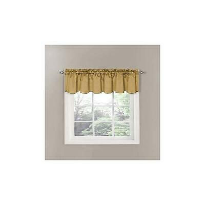 Eclipse Canova Blackout Window Valance 42Inx21in Gold