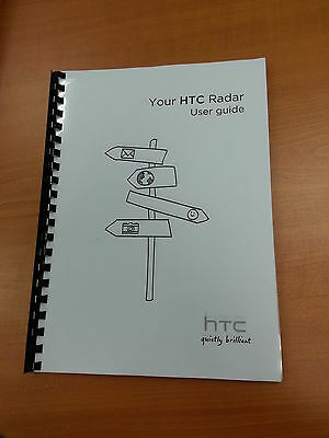 Htc Radar Full Printed User Manual Guide 100 Pages A5