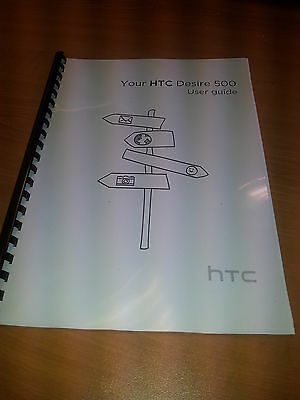 Htc Desire 500 Printed Instruction Manual User Guide 170 Pages A5