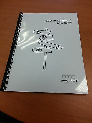 Htc One S Full Printed Instruction Manual User Guide Easy To Read 187 Pages A5