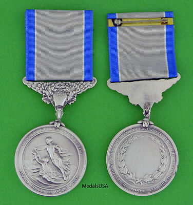 Silver Life Saving Medal Coast Guard -Full size made in the U.S.A.- USM043 USCG