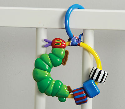 Rainbow Designs THE VERY HUNGRY CATERPILLAR ATTACHABLE RING RATTLE Toy BN