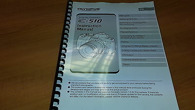 Olympus E-510 Digital Camera Printed Instruction Manual User Guide 128 Pages A5