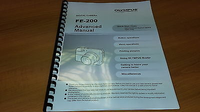 Olympus Fe-200 Digital Camera Printed Instruction Manual User Guide 78 Pages A5