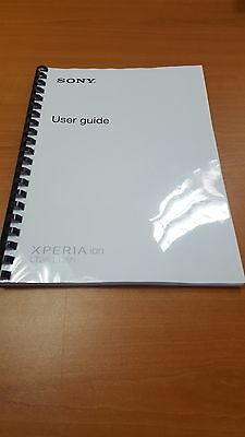 SONY XPERIA ION LT28i FULLY PRINTED INSTRUCTION MANUAL USER GUIDE A5 128 PAGES