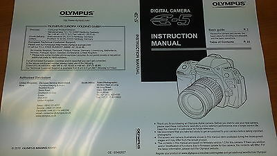 Olympus E-5 Digital Camera Printed Instruction Manual User Guide 171 Pages A5