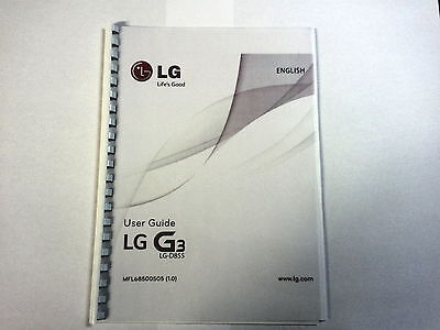 Lg G3 - Lg-D855 Printed Instruction Manual User Guide 118 Pages A5