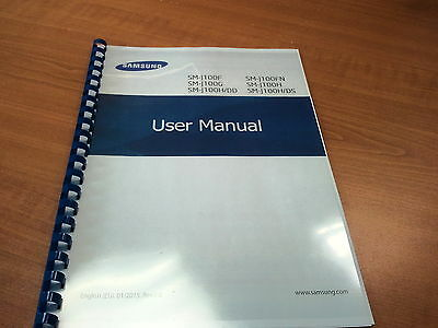 Samsung Galaxy J100F  Printed Instruction Manual User Guide 98 Pages A5