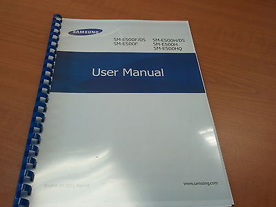 Samsung Galaxy E500F  Printed Instruction Manual User Guide 133 Pages A5