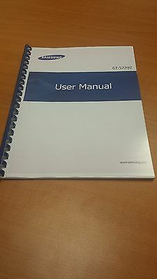 Samsung Galaxy Trend Gt- S7392 Printed Instruction Manual Guide 102 Pages A5