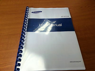 Samsung Galaxy Xcover 2 Gt-S7710 Printed Instruction Manual Guide 112 Pages A5