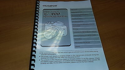 Olympus E-400 Digital Camera Printed Instruction Manual User Guide 164 Pages A5