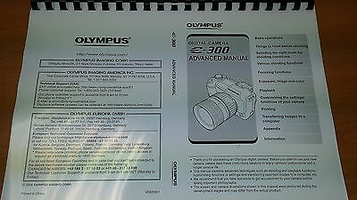 Olympus E-300 Digital Camera Printed Instruction Manual User Guide 211 Pages A5