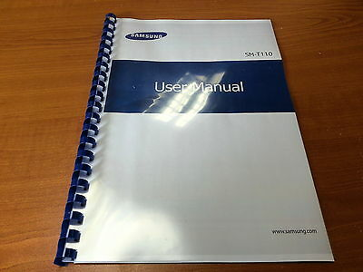 Samsung Galaxy Tab3 Lite Sm-T110 Printed Instruction Manual Guide 131 Pages A5