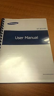 Samsung Galaxy Gt-S6310N   Fully Printed Instruction Manual Guide 135 Pages A5