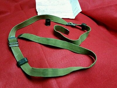 "West German Canvas  Rifle Mg Mp Uzi Sling 1 "" Wide 52 "" Long With Muzzel Cover"