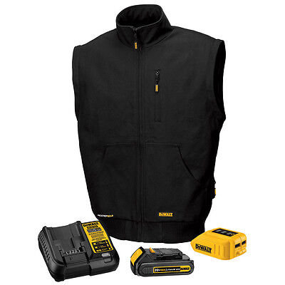 DeWALT DCHJ065 20V Black Heated Jacket with Battery & Removeable Sleeves X-Large