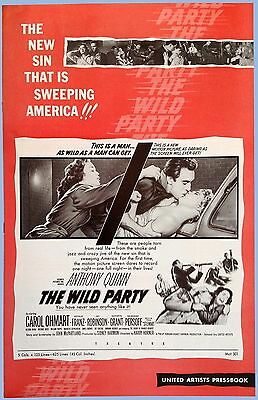 Vintage - The Wild Party - United Artists Pressbook - 1956 - Quinn - Ohmart