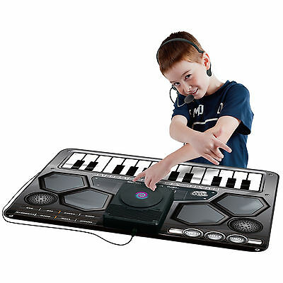 Kids Music Dj Style Keyboard Piano Playmat with Microphone Great Gift