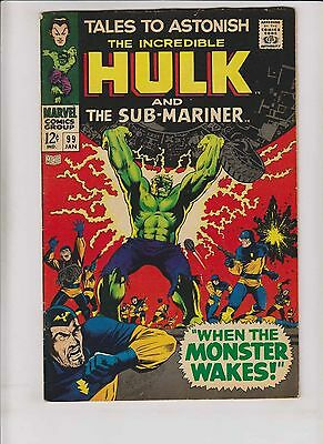 Tales To Astonish #99 VG+ incredible hulk - prince namor the sub-mariner 1968