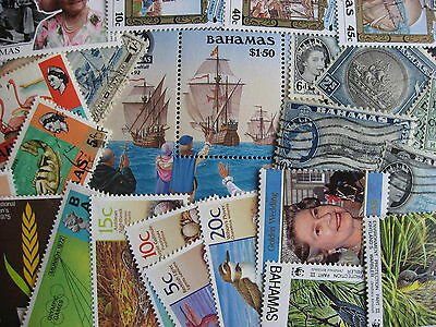 Scrap pile of 20 BAHAMAS. Duplicates, mixed condition,what lurks?