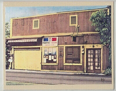 "Pancipanci Store Haleiwa Giclee F/hand Colored Original Photo On 8X10"" Tan Matt"