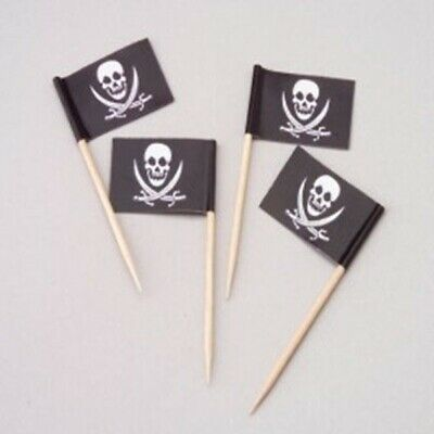 144 Pirate Flag Pick Cheese Snack Party Picks Birthday