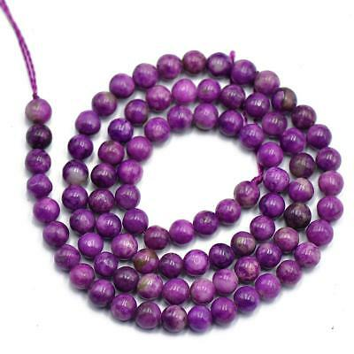 "Purple Charoite 4mm Gemstone Loose Beads 15"" Strand FOR Jewelry Making DIY"