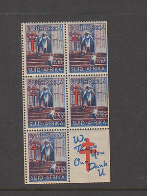 South Africa 1963  (-) TB ASSOC -Cinderella Booklet Pane- LHM