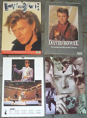 Collection Of David Bowie Memorabilia Calendars & Tour Programme Exc