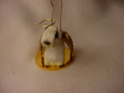 SEALYHAM TERRIER dog ANGEL Ornament HAND PAINTED Resin Figurine Christmas puppy