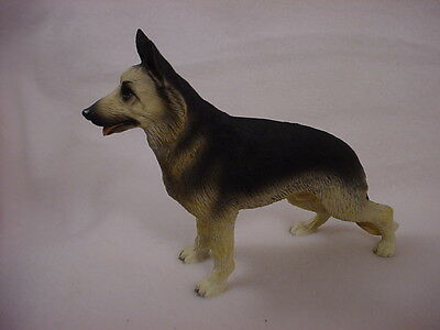BLACK TAN GERMAN SHEPHERD FIGURINE dog HAND PAINTED Resin Puppy COLLECTIBLE New