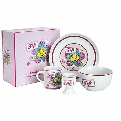 Fifi & the Flower Tots - Kids Gift Boxed 4pc Ceramic Breakfast Set