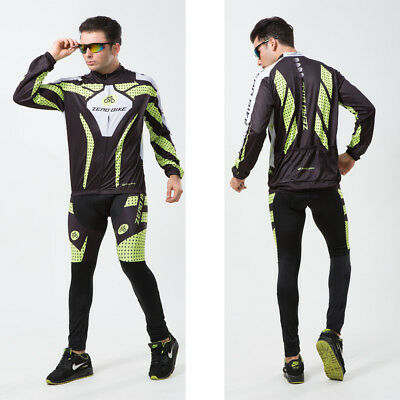 Mens Windproof Cycling Jersey Winter Bike Bicycle Clothing Fleece Thermal Pants