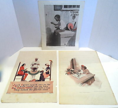 CREAM OF WHEAT ADS 3 pieces 1908 1909 1915 all with RASTUS advertisement