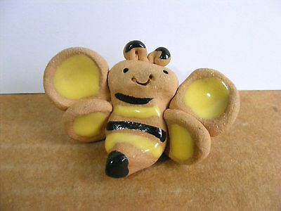Little Guys Bee Miniature Animal Figurine Cindy Pacileo Pottery Support Wildlife