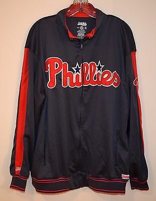 Very Nice Mens Philadelphia Phillies Stitches Jacket Size L Large