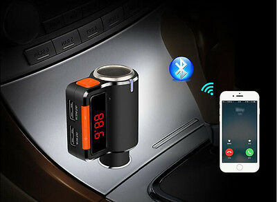 2.1A USB Car Charger Bluetooth FM Transmitter For Samsung Galaxy Note 5/4/S6/S5