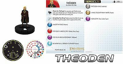 THEODEN #026 Lord of the Rings: The Two Towers LotR HeroClix RARE