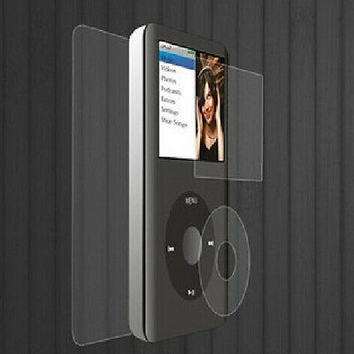 1X Set Clear Screen Protector LCD Film + Cloth For iPod Classic 80/120/160GB