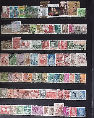 Danemark Lot De Timbres N°7 Obliteres Tous Differents