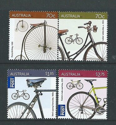 Australia 2015  Bicycles, Cycling Unmounted Mint Set Of 4