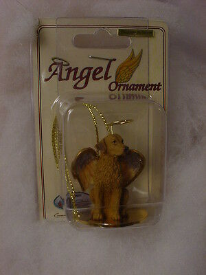 CHESAPEAKE BAY RETRIEVER dog ANGEL Ornament Figurine NEW Christmas CHESSIE puppy