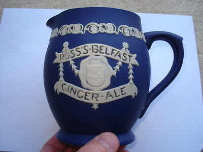 C1910 Ross's Belfast Ginger Ale Jasperware Advertising Water Jug