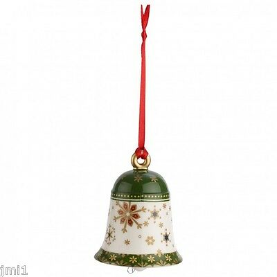 Villeroy & Boch MY CHRISTMAS TREE Ornament:  Green Bell # 6880