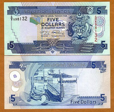 Solomon Islands, $5, ND (2008), P-26 C/5 UNC