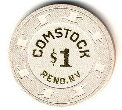 $1.00  Comstock  Casino,Reno,Nv.  Casino Chip, Obsolete,Mint Clean Condition