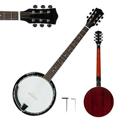New 6 String Banjo Full Size with Closed Back 24 Brackets Head & Maple Neck