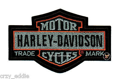 Large Harley Davidson Nostalgic Long Bar Shield Vest Patch Motorcycle Biker