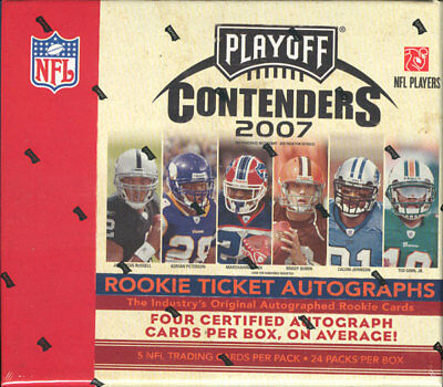 2007 Playoff Contenders Football Hobby 12 Box Case Blowout Cards